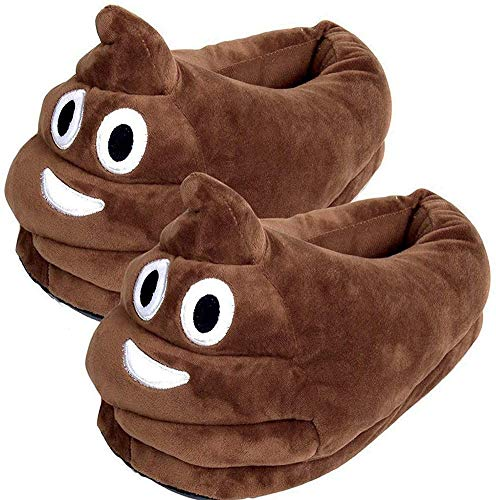 Product Image of the YINGGG Unisex Cute Poop Emoji Slippers Plush Fluffy Comfortable House Shoes for...