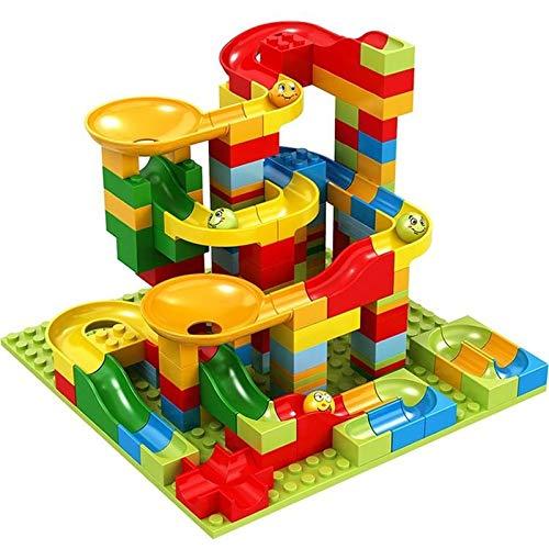 AMZYY Large Particle Slide Assembly Building Puzzle Building Blocks Race Track Roller Coaster Set Ramps, Slides, Funnels for Child