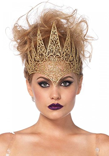 shoperama Crown Latex by Leg Avenue Queen Halloween Ladies Fancy Dress Tiara EVL