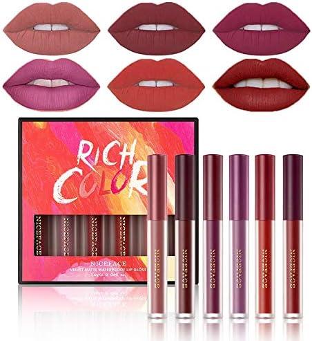 LOKFAR 6 Colors Velvet Matte Lipstick Set Long Lasting Wear Waterproof Matte Liquid Lip stick product image