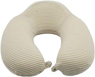 Ecloud Shop Travel Pillow U-Shaped Pillow, Pure Memory Foam Neck Pillow, Comfortable & Breathable Cover, Washable (Biege)