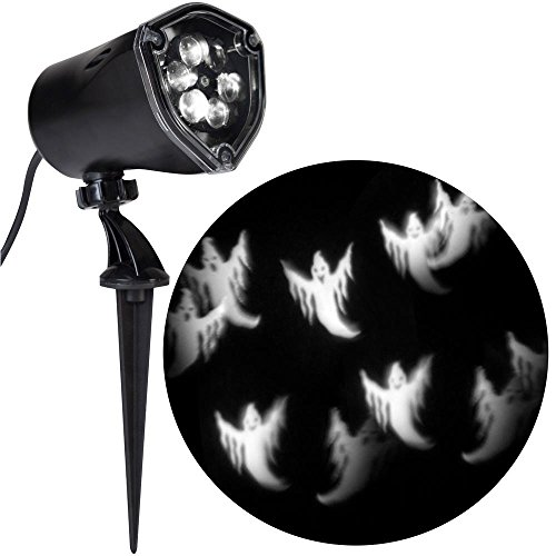 Lightshow Strobing LED Halloween Chasing White Ghosts Strobe Spotlight Whirl-a-Motion