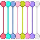 Senhai 8 Pezzi Cavo Magnetico avvolgitori, String avvolgitori per Cavi Fascette per Cavi Cinghie per la Gestione dei Cavi Pendenti Auricolare Chiavi di Fissaggio Sacchi