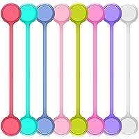 MULTIFUNZIONALE: Questi avvolgitori cordone magnetici e legami di torsione sono multi-funzionali in molti modi. Essi possono essere utilizzati per la gestione dei cavi, riagganciare chiavi, avvolgere le cose in cucina o fissare alcuni sacchi. E 'idea...