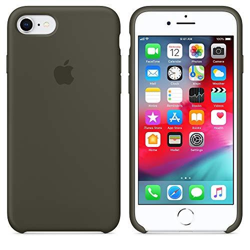 Funda para iPhone 7/8 Carcasa Silicona Suave Colores del Caramelo con Superfino Pelusa Forro,Anti-rasguños Teléfono Caso para Apple iPhone 7/8 (iPhone 7/8, Verde Oliva)
