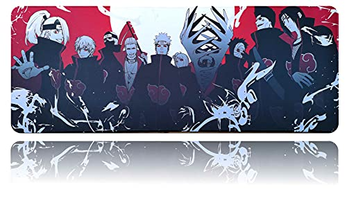 Anime Mouse Pad Akatsuki Large Gaming Mouse Mat 31.5'x11.8' for Laptop PC Office Desk Accessories