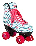 Rookie Roller rollerskates Flamingo, Femme, Femme, RKE-SKA-2506, Blanc/Multicolore, 40.5