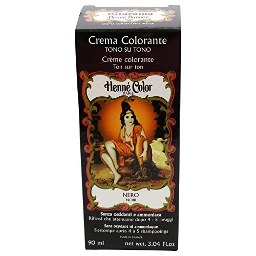 SITARAMA Tinte Vegetal Crema con Henna - Negro - Sin peróxido ni amoniaco - Sin colorantes sintéticos - Vegan