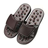 Zapatillas de Masaje Acupoint Sandalia para Hombres Pies Terapia de acupresión...