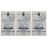 The Grandpa Soap Company Grandpa brands co. - epsom salt and baking soda bar soap - 4.25 oz (3-pack)