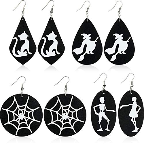 Pendientes de Halloween Aretes de Esqueleto de Araña para Mujer, Niñas, Niños,...