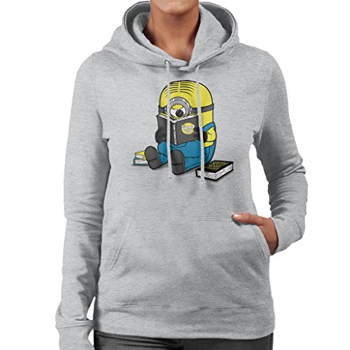 One Eyed Bookworm Minions Women's Hooded Sweatshirt