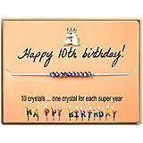 KGBNCIE Happy Birthday Gifts Bracelet Crystal Beads Bracelet...