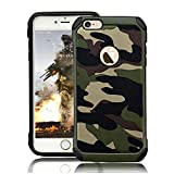 LCHULLE 2 in 1 Hülle für iPhone 5/iPhone 5S/iPhone SE Handyhülle Outdoor Schutzhülle TPU + PC Bumper Doppelschichter Schutz Hülle für iPhone 5/iPhone 5S/iPhone SE Tasche, Armeegrün