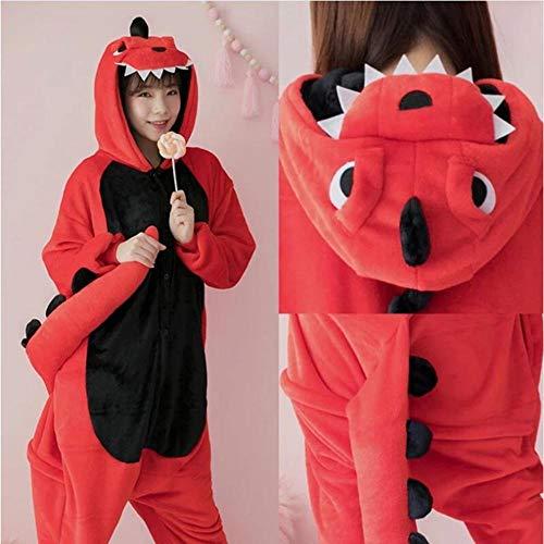 FZH Pijama Pijama de Franela de Dinosaurio Kigurumi para Mujer, Ropa de...