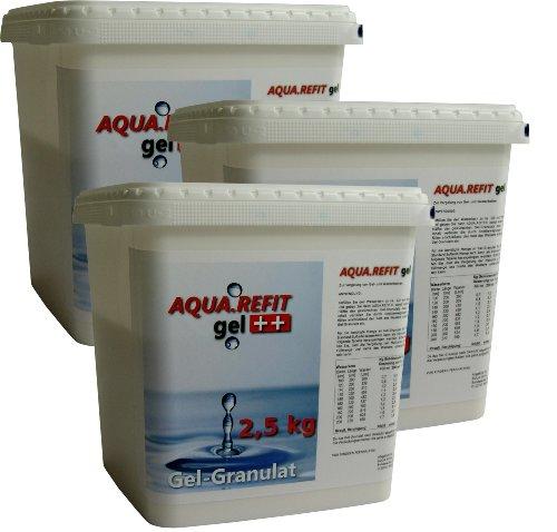 AQUA REFIT Wasserkern Vergelung in Wasserbetten, Gelbetten - Wasserbett Gel Granulat Pulver (7.5 kg)