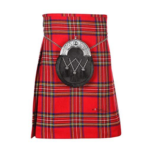 The Scotland Kilt Company Nuovo Donna Scozzese Nero Hostess 20 Lunghezza Al Ginocchio Gamma di Tartan Taglia 6-28