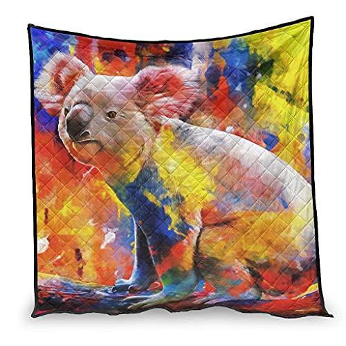 Vartanno Edredón de verano Koala Premium cálido para oficina blanco 230x260cm