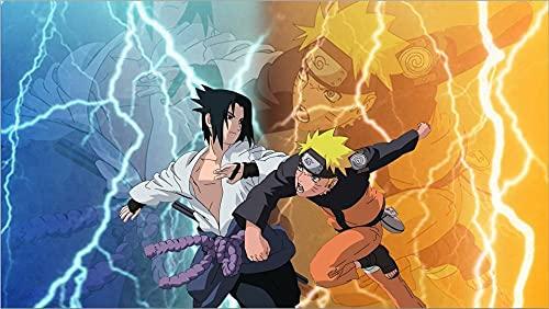 Alfombra Sala De Estar Sofá Mesa De Café Estera Dormitorio Habitación Estera De Cabecera Creativa De Dibujos Animados Naruto Anime Habitación De Niños-A_160*280cm-A_160X230cm
