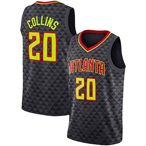 WSUN Camiseta De Baloncesto para Hombre NBA John Collins # 20 Atlanta Hawks NBA Camisetas Sin Mangas Unisex para Jóvenes Trajes De Competición Deportiva Al Aire Libre,XL(180~185CM/85~95KG)
