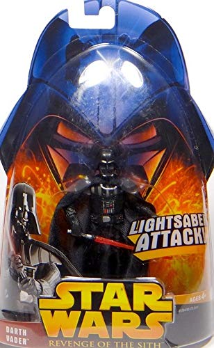 Hasbro Darth Vader Lightsaber Attack No.11 Star Wars Revenge of the Sith Collection 2005
