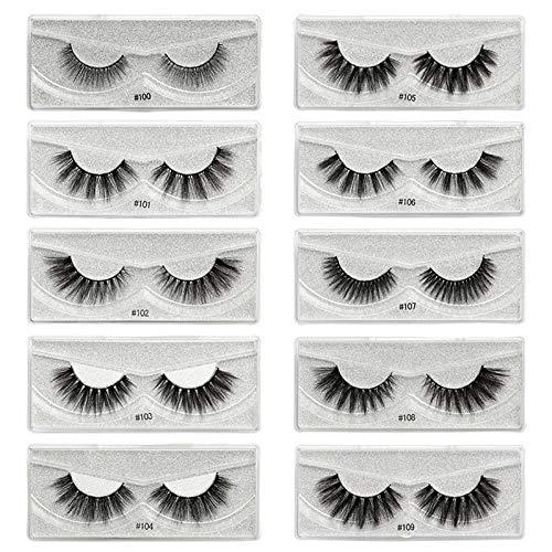 WANGDEE Falsche Wimpern, Falsche Eyelashes Magnetische Wimpern Wimpern Set Magneten Magnetic False Eyelashes Wiederverwendbar Curly Dramatic Natural of False Eyelash