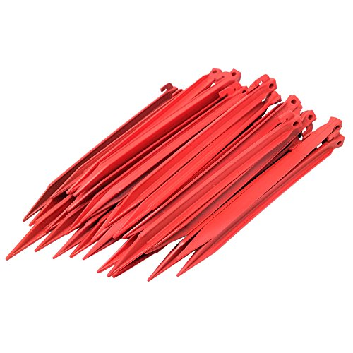ToCi Kunststoff Heringe 30cm   Zeltheringe für Outdoor Camping Zelte Garten   Zeltnägel in Rot (36 Stück)