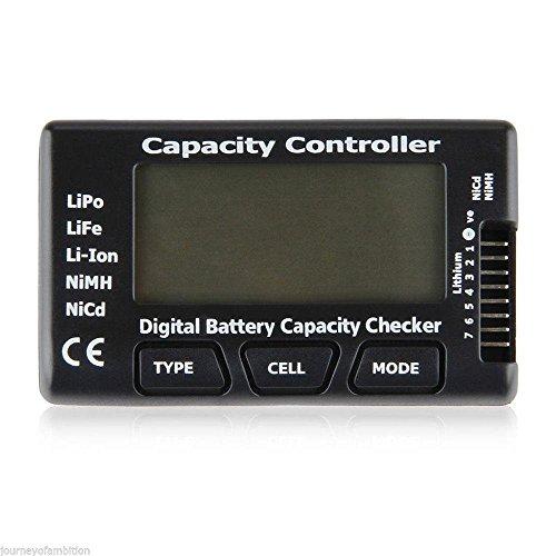 GSS NOUVEAU Capacité de la batterie LCD Checker testeur pour LiPo, LiFe, batterie Li-Ion NiCd NiMH