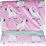 Pink & Brown Zoo Animals Elephant Giraffe Monkey So Soft Blanket by Just Born