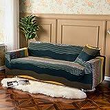 WXQY Funda de sofá elástica para Sala de Estar Funda de sofá Antideslizante con Todo Incluido protección para Mascotas Funda de sofá elástica combinación A1 2 plazas