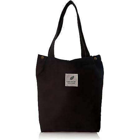 HK5G NoChoX Handtasche Damen Canvas Tasche Lässiges Einkaufen Handtasche Damen Umweltschutz und Mode Canvas Umhängetasche 38 x 32 x 11cm (schwarz)