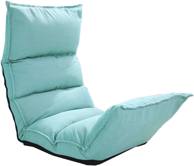 TLMYDD Lazy Couch Single Foldable Small Sofa Lazy Sofa (color   bluee)