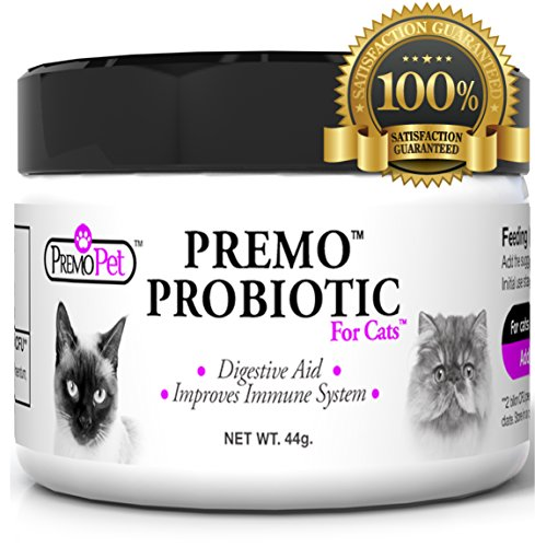 PROBIOTIC for Cats – Premo Pet – Digestive Aid Plus Prebiotic – Best for Diarrhea, Vomiting, Gas, Skin Conditions – Tasteless – Wheat &...