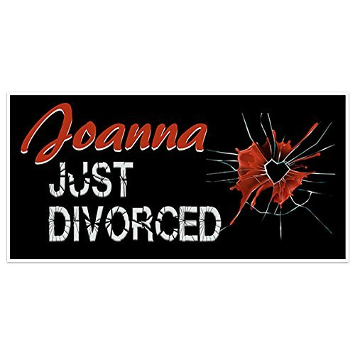 Divorce Party Banner Personalized Party Backdrop Decoration