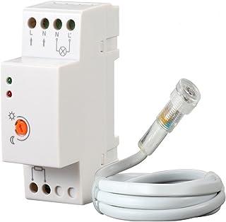 Maclean MCE83 schemeringssensor schakelaar voor DIN-rail met externe sonde 220-240 V/AC, 50 Hz 20 A.