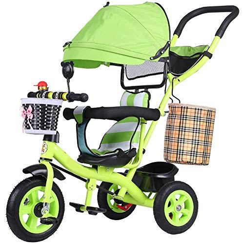 Single Kinderwagen, Children's Double Driewieler, Fiets High-Carbon Staal Wandelwagen