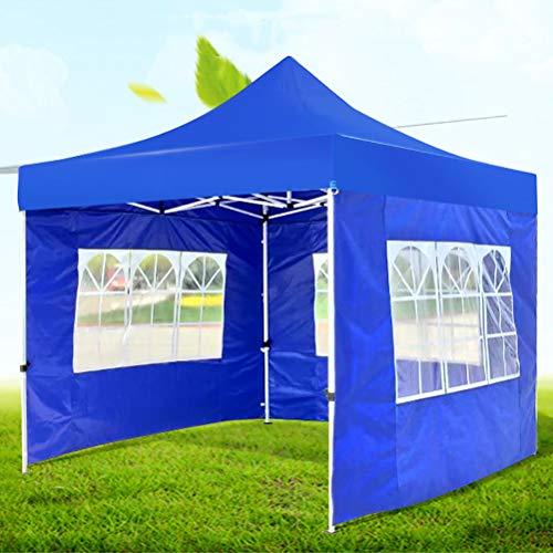 Zhyaj Leicht Aufklappbare Gartenlaube - 2,5X2,5M wasserdichte Schwerlastpavillon Mit 3 Seiten - All Seasons Partyzelt - Klappbare Camping-Pavillon Aus Metall,Blau,2.5x2.5m