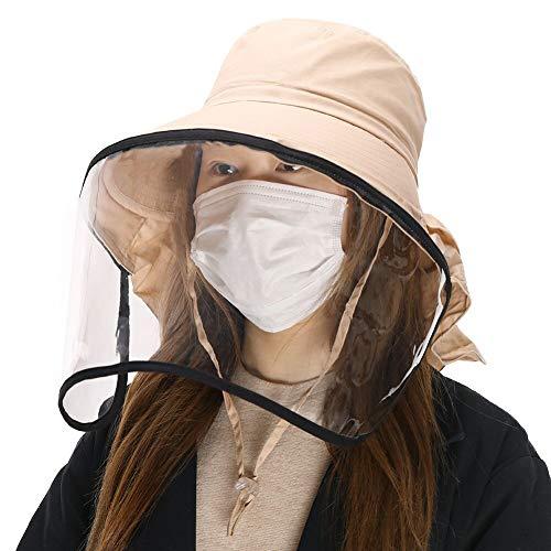 Comhats UPF 50 Sombrero de Sol para Mujer Plegable Pamelas de algodón...