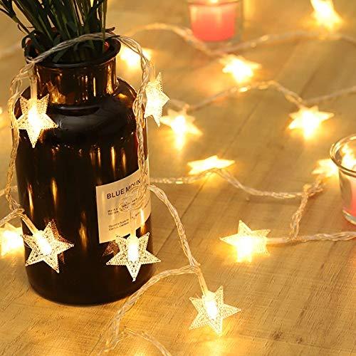 LED-Girlande Lichterketten im Freien Party LED dekorative Lichter Hauptdekoration Urlaub Lichterketten Batterie 6m60 LEDs