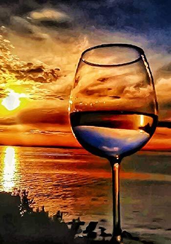 AYSUNJIE Klassisches Puzzle 1000 Teile Erwachsenenpuzzle Aus Holz Puzzles-Sunset Weinglas-Kind Geschenk Wohnkultur Modern Festival DIY Geschenk Intellektuelles Spiel 75X50Cm