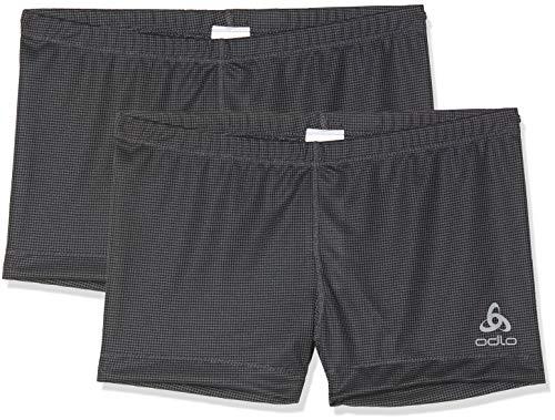 Odlo Damen SUW Bottom Panty Active Cubic Light 2 Pack Unterhose, Black, M