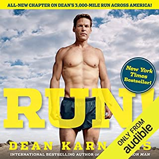 Run!     26.2 Stories of Blisters and Bliss              By:                                                                                                                                 Dean Karnazes                               Narrated by:                                                                                                                                 Daniel May                      Length: 7 hrs and 16 mins     197 ratings     Overall 4.6