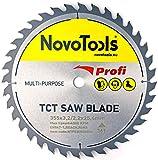 <span class='highlight'>NOVOTOOLS</span> <span class='highlight'>TCT</span> <span class='highlight'>Circular</span> <span class='highlight'>Wood</span> <span class='highlight'>Saw</span> <span class='highlight'>Blade</span> 355mm x 25mm x 36T Good Quality for cutting all types of <span class='highlight'>wood</span>. Suitable for all types of <span class='highlight'>circular</span> <span class='highlight'>saw</span>s Festool Bosch Makita DeWalt Evolution etc