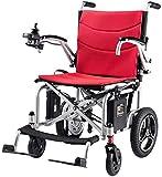 Silla de ruedas eléctrica / Desarrollado Silla de ruedas eléctrica plegable de peso ligero 16 kg, el asiento Ancho 42cm, la batería de litio extraíble for sillas de Movilidad, Sillas de ruedas motoriz