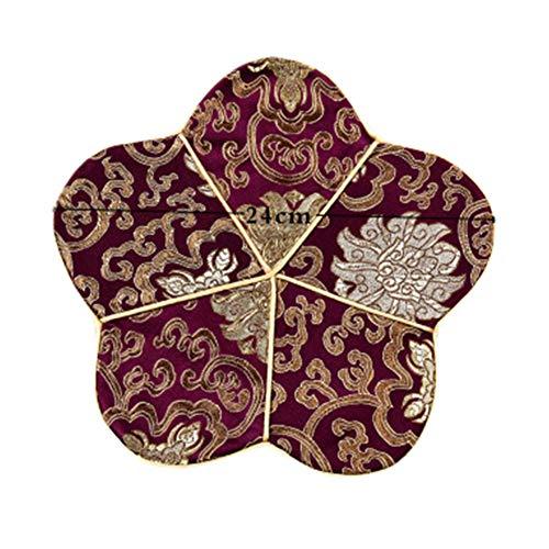 Goddness Bar Tapis de Plateau de thé en Tissu décoratif Coaster Retro Pad Tapis (Style 05)