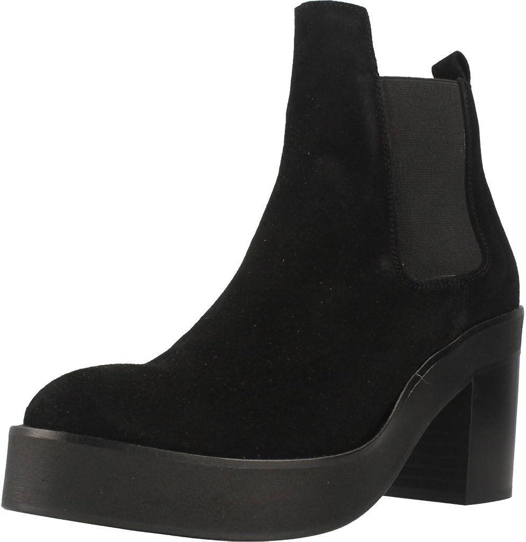 Unbekannt Stiefelleten Stiefel Damen, Farbe Schwarz, Marke Gelb, Modell 68134 schwarz