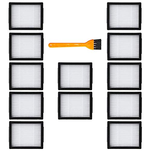 Replacement Filters Compatible with iRobot Roomba i3 i3+ i7 i7 i7 Plus E5 E6 E7 Series - 12 pc High Efficiency Filters with 1pc Filter Cleaning Brush Vacuum Cleaner Replenishment Accessory Filter