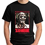 Lucio Fulci'S Zombie Horror Movie Show Black T-Shirt Size Black L