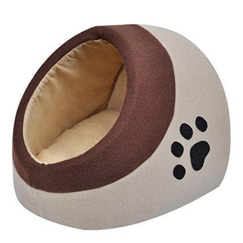 vidaXL Cuccia Calda di Pile Letto Caldo Animale Domestico per Gatti Cani M