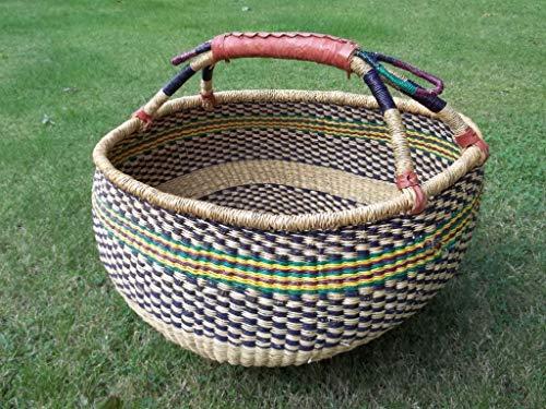 Einkaufskorb Bolga-Korb, Bolgakorb, Malikorb aus Steppengras, aus Burkina Faso, ca. 36-40cm, farblich Sortiert von Korbhaus Gesthüsen.